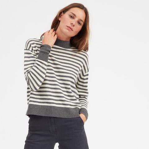 Cashmere Crop Mockneck Sweater