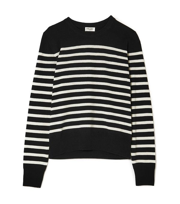 Marino Striped Cashmere Sweater