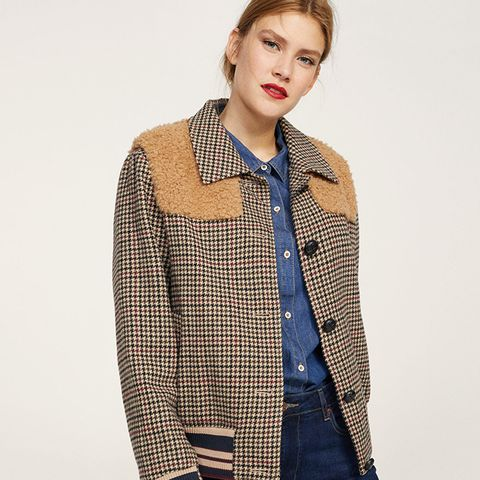 Combined Wool-Blend Jacket