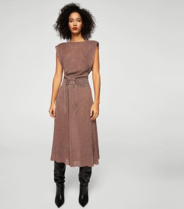 Metal corset dress