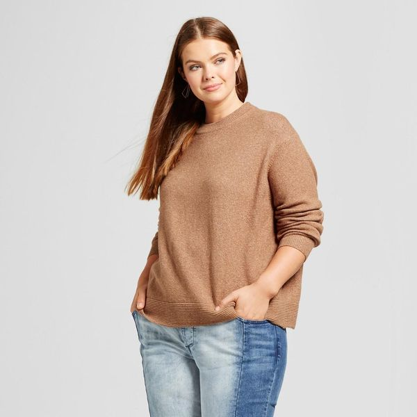 Plus Size Cropped Ottoman Sweater