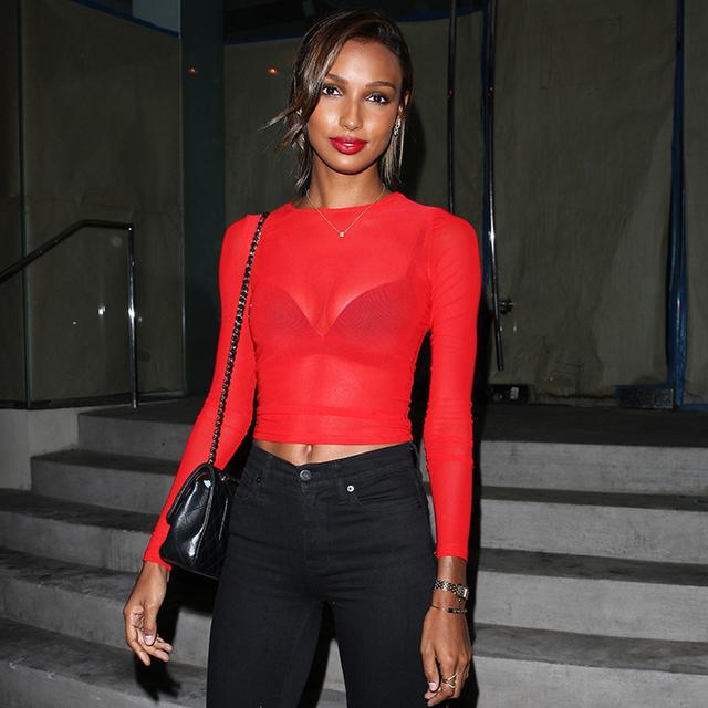 jasmine tookes, red top