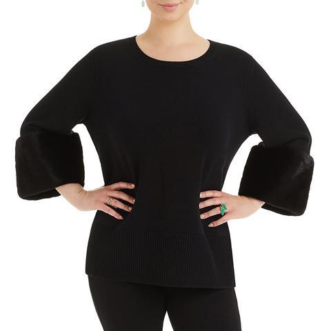 Cashmere Mink Cuff Sweater