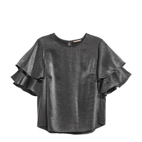 Flounce-Sleeved Blouse