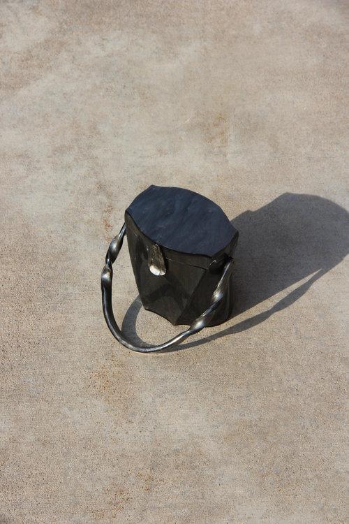 Michaela Co Twisted Lucite Handbag