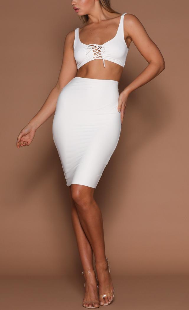 Meshki Ailana Jersey Midi Skirt