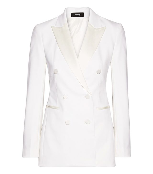 Theory Satin-Trimmed Blazer