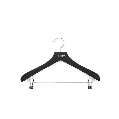 Rubber-Coated Clip Clothes Hanger
