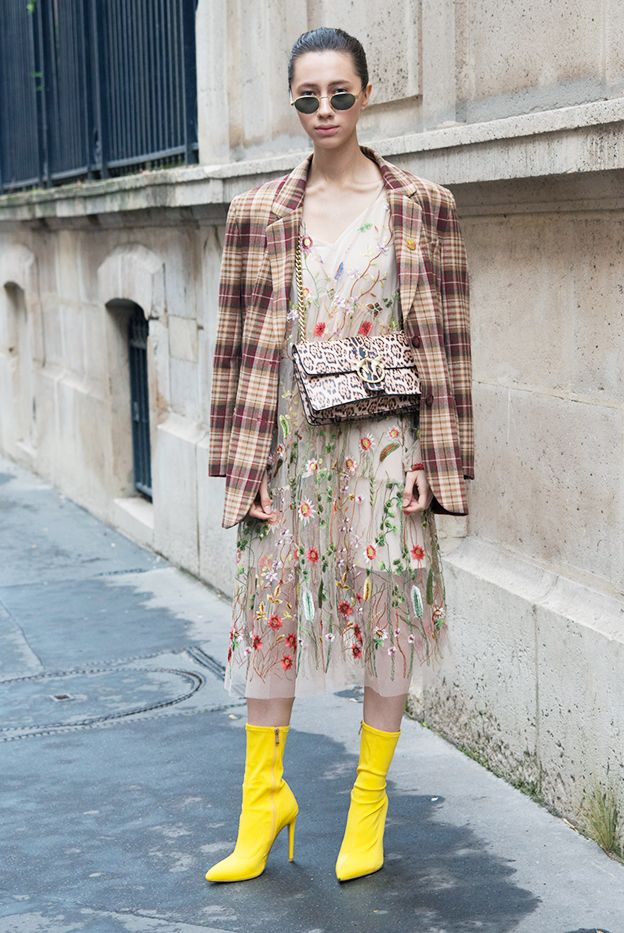 How to Wear Ankle Boots With Dresses