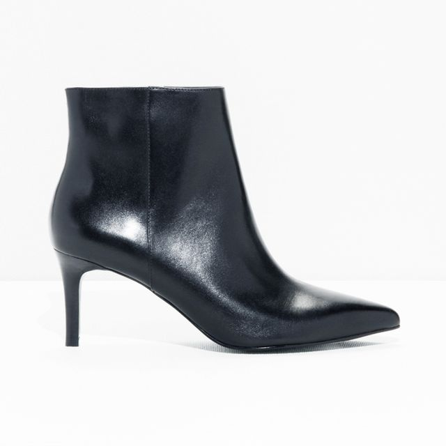how to wear ankle boots with dresses: & Other Stories Stiletto Ankle Boots