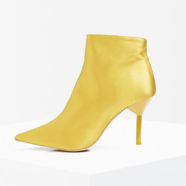 how to wear ankle boots with dresses: Topshop Mustard Ankle Boots