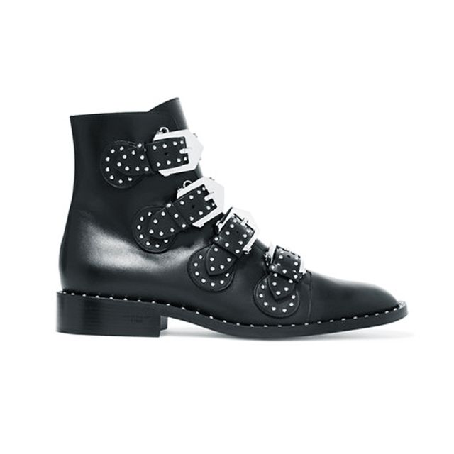 how to wear ankle boots with dresses: Givenchy Studded Leather Ankle Boots