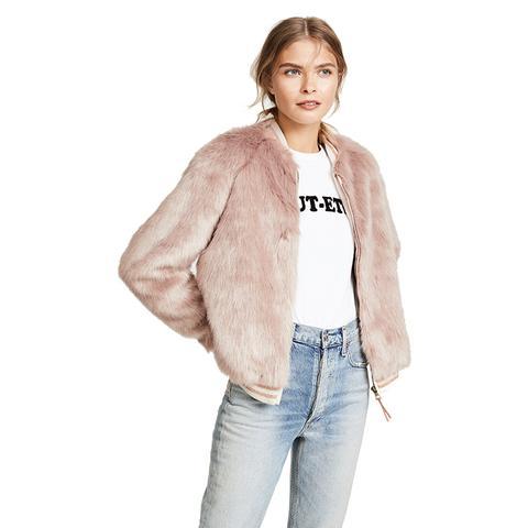 The Letterman Faux-Fur Jacket