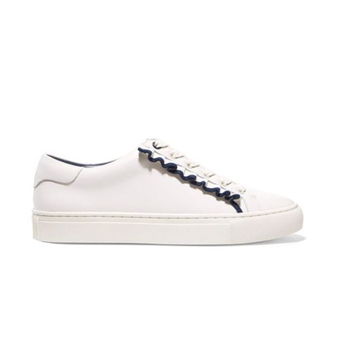 Ruffled Leather Sneakers
