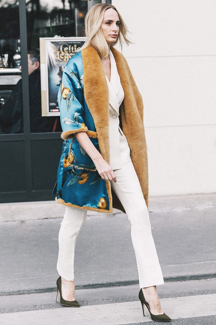 If you just love white and the way it complements your complexion, but you're still afraid to wear it during the winter, choose off-white, cream, and beige clothing instead. Even die-hard fashion traditionalists usually O.K. winter white.