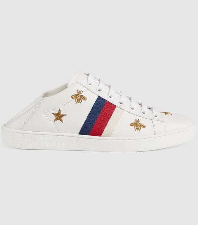 Ace sneaker with bees and stars