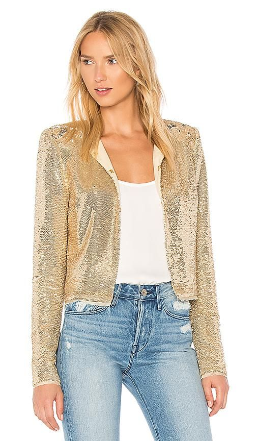 Dolly Jacket in Metallic Gold. - size 0 (also in 2)