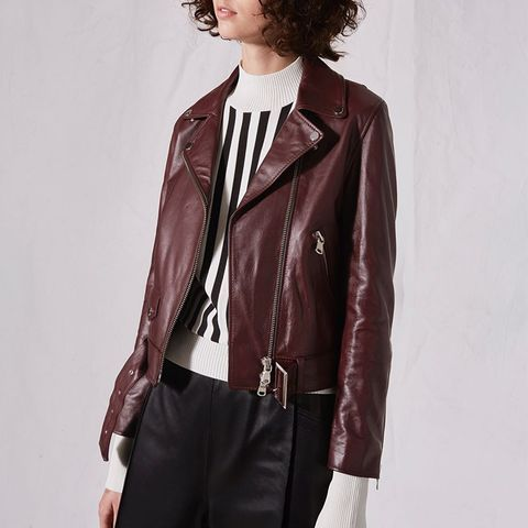 Belted Biker Jacket by Boutique