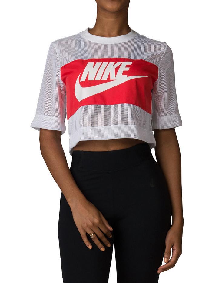Crop Mesh Top by Nike