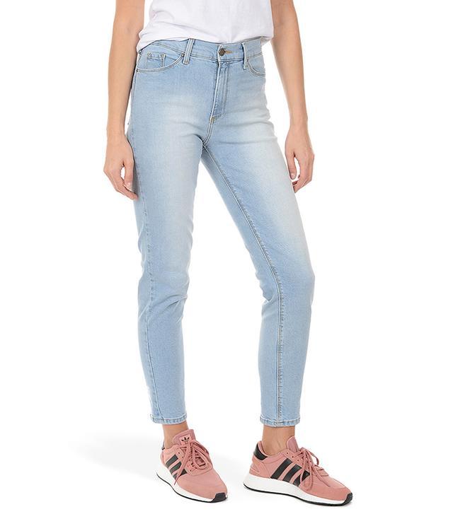 Mott & Bow Mom Jeans in Light Blue