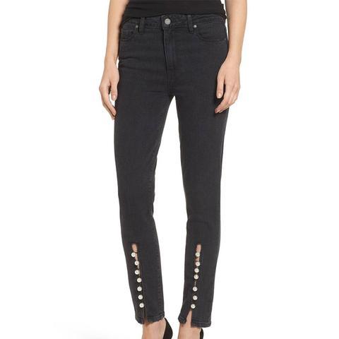 Women's Paige Transcend Vintage - Julia High Waist Straight Leg Jeans
