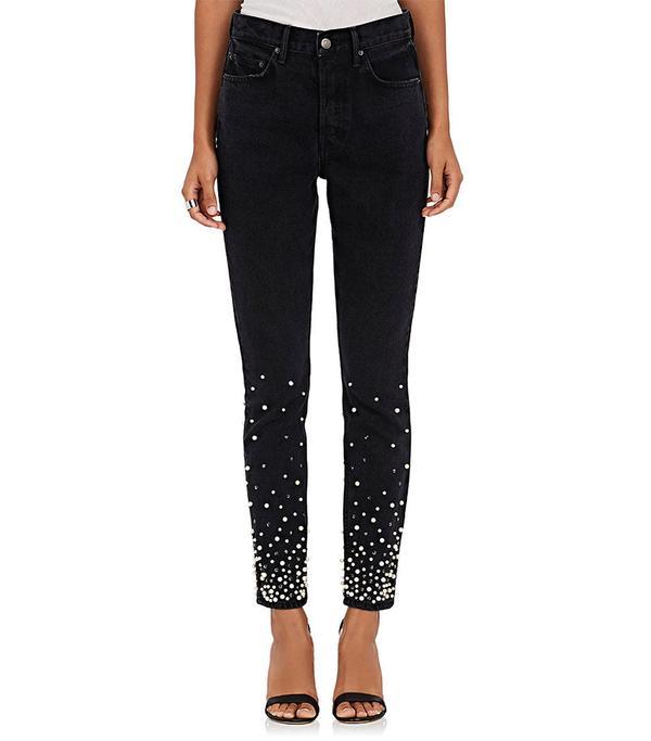 Women's thedrop@barneys: Karolina Embellished Skinny Jeans