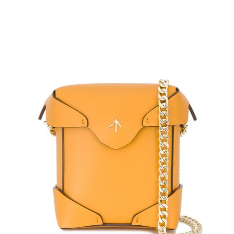 Micro Mustard Pristine Box Bag
