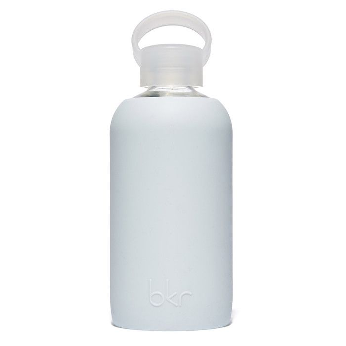 Wren Light Blue Glass Water Bottle by Bkr