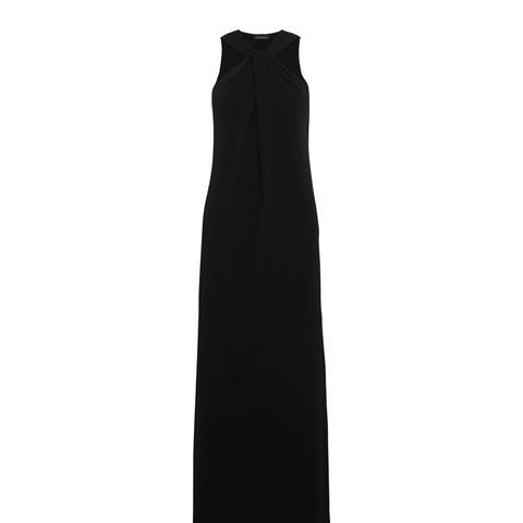 Drawo Stetch-Crepe Halterneck Maxi Dress