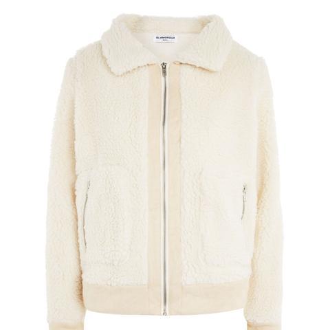 Shearling Style Bomber Jacket by Glamorous