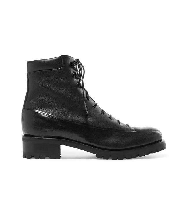 Sherwood Rubber And Leather Ankle Boots