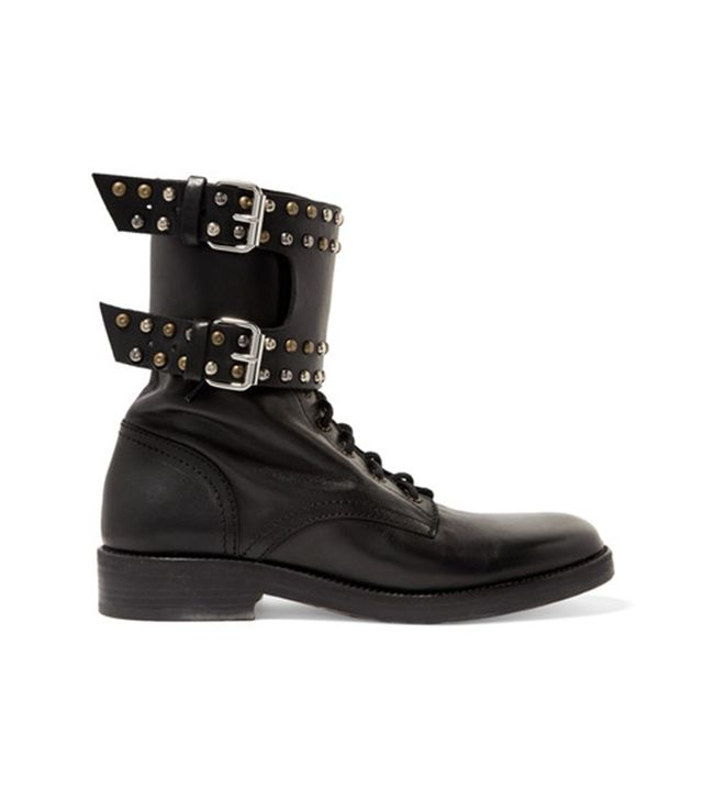 Teylon Studded Leather Ankle Boots