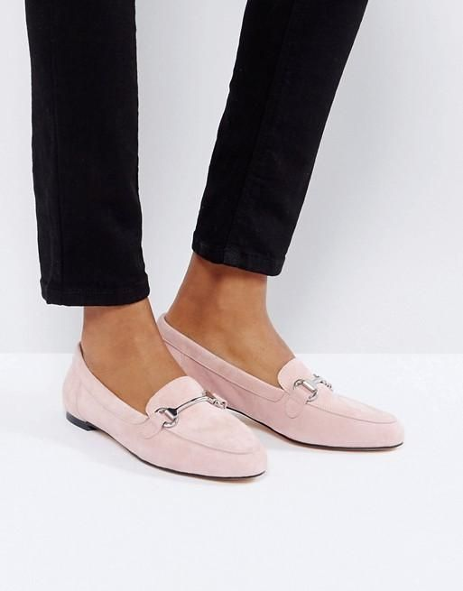 Blush Suede Loafers