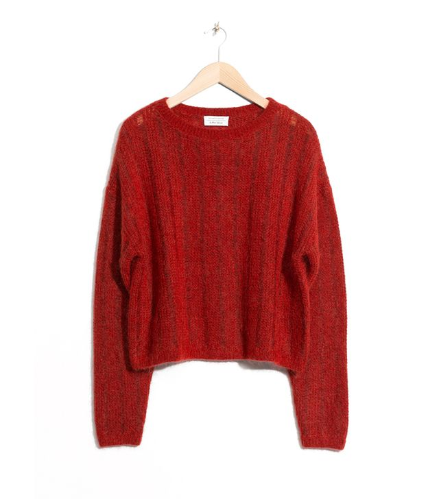 Fuzzy Mohair & Wool Knit