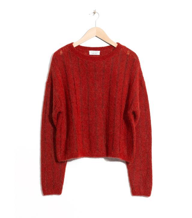 Fuzzy Mohair & Wool Knit