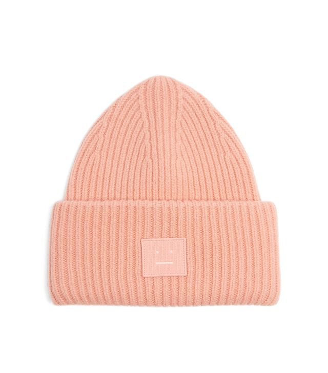 Pansy wool-blend beanie hat