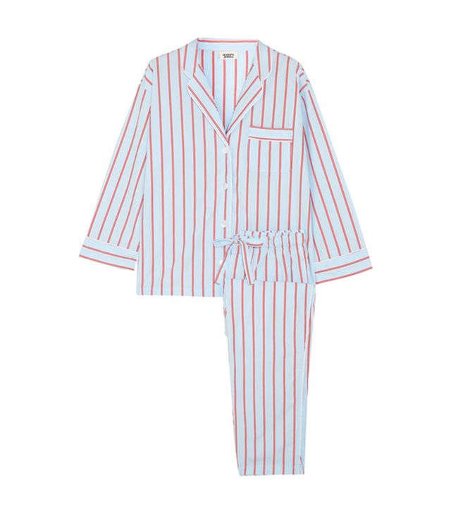 Marina Striped Cotton Pajama Set