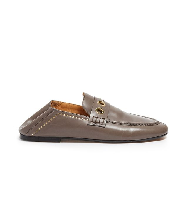 Fosten collapsible-heel leather loafers