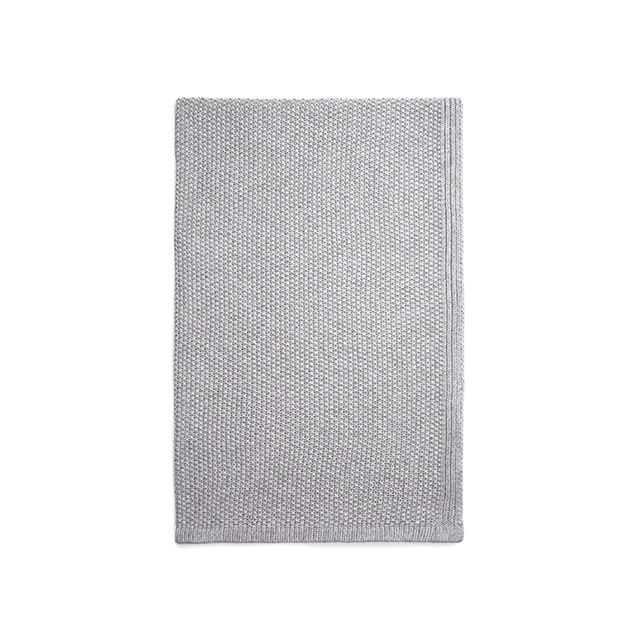 Vince Seed-Stitch Wool and Cashmere Blanket