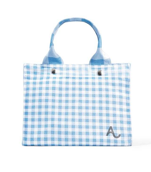 Alexachung Gingham Tote Bag for Amex Shop Small