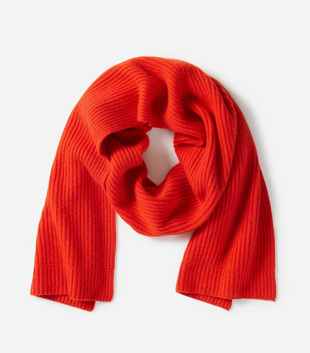 Women's Cashmere Rib Scarf by Everlane in Persimmon