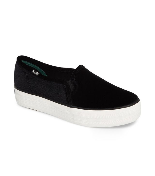 Keds Triple Decker Velvet Sneakers