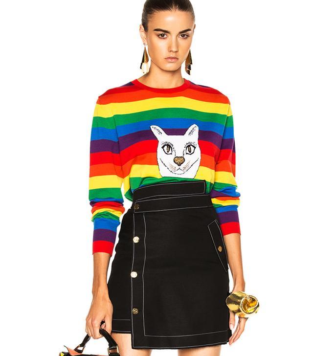 Christmas cat jumpers: Loewe Rainbow Cat Sweater