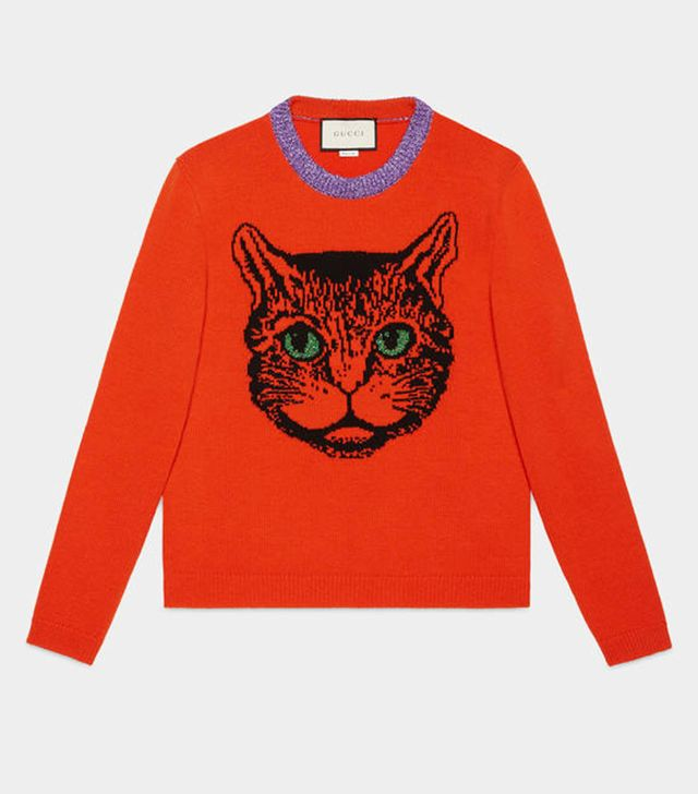Christmas cat jumpers: Gucci Mystic Cat Sweater