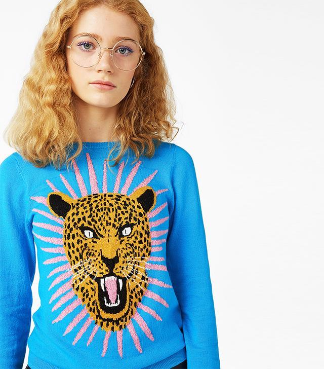 Christmas cat jumpers: Monki Glittery Sweater