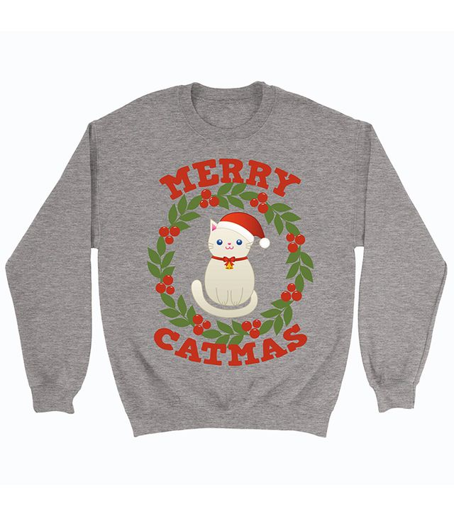 Christmas cat jumpers: Customized For You Christmas Cat Sweatshirt