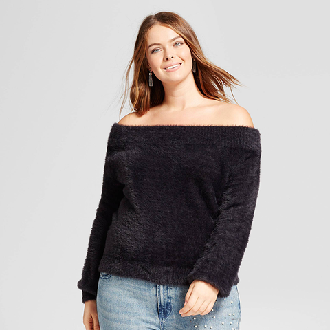 Soft Slouchy Off-the-Shoulder Sweater