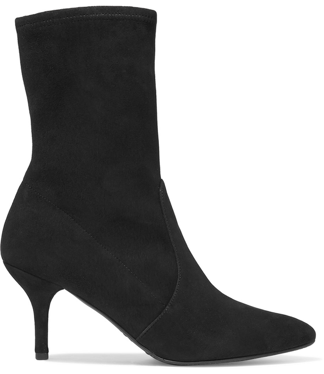 Cling Suede Sock Boots