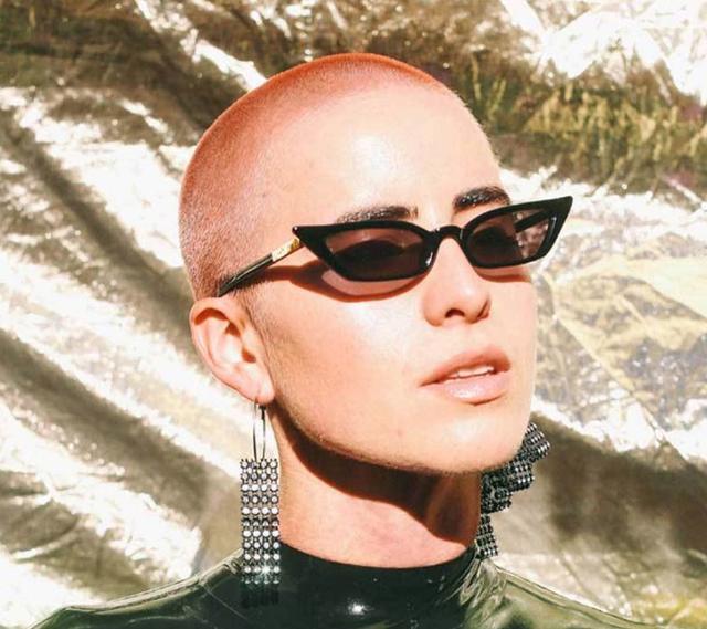 Poppy Lissiman Le Skinny Sunglasses Black