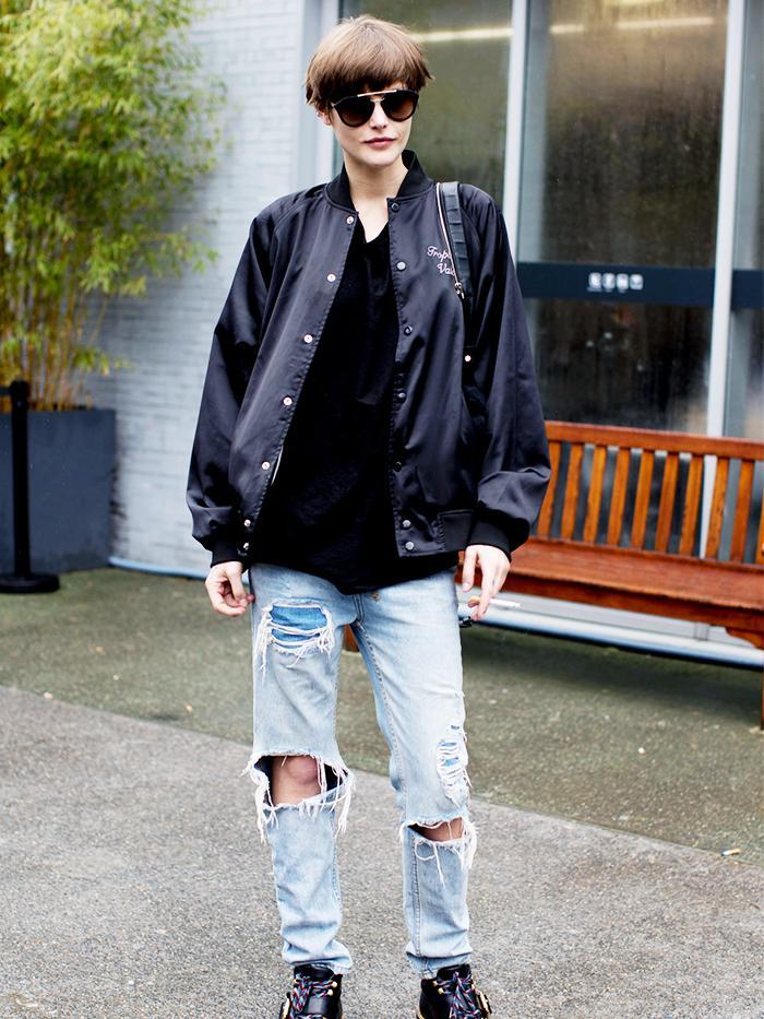 How To Wear Boyfriend Jeans In The Winter Proof It S